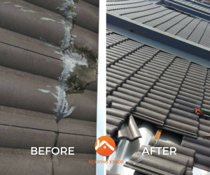 Taman Daya Johor roofing services Before after